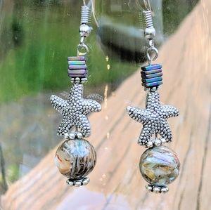 Jewelry - Shell beads with starfish and hematite beads